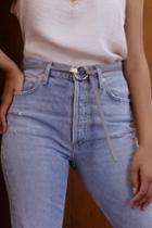 Wynford Grey Ring Belt | Lulus