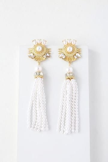 Stratford Gold And Pearl Tassel Earrings | Lulus