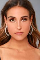 Lulus Empress Silver Earrings