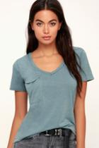 Z Supply Pleasant Surprise Sea Green Tee | Lulus