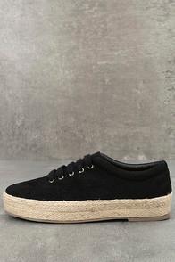 Bonnibel Pippa Black Suede Espadrille Sneakers