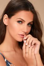 Shashi | Lynda Rose Gold Ring | Pink | Lulus