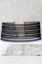 Lulus Endless Harmony Black Choker Necklace