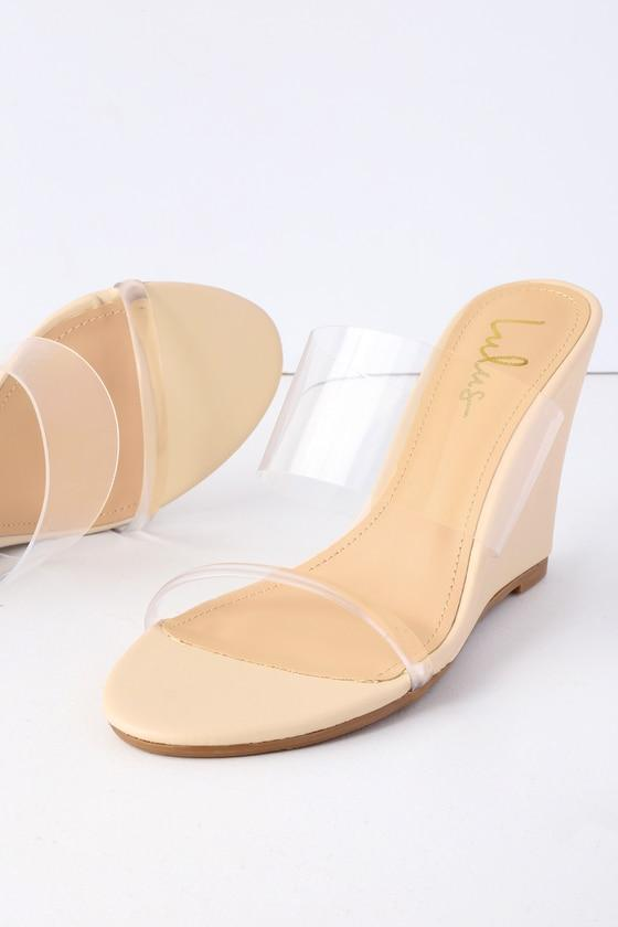 Wynnie Nude Wedges | Lulus