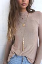 Naples Gold Layered Tassel Necklace | Lulus