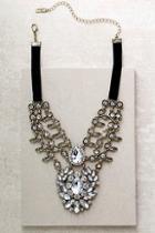 Lulus Victorian Charm Gold Rhinestone Choker Necklace