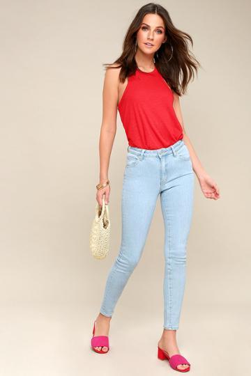 Rollas Westcoast Ankle Light Wash Skinny Jeans | Lulus