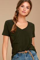Z Supply Selene Olive Green Tee