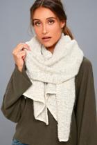 Lulus Cute 'n' Cozy Heather Grey Scarf