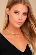 Lulus | Completely Charming Gold Collar Necklace