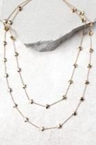 Lulus Twinkle Twinkle Gold Layered Necklace