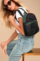 Lulus | Style Street Black Striped Backpack