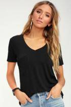 Z Supply Selene Black Tee | Lulus