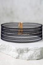 Lulus Ribbon Dancer Black Choker Necklace
