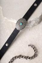 Lulus Welcome To The West Gunmetal And Black Concho Belt