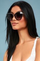 Dawn Delight Black Sunglasses | Lulus