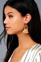 Seize The Day Gold Tassel Earrings | Lulus