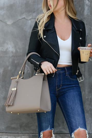 Calbira Taupe Handbag | Lulus