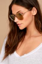 Sonix Lodi Gold Aviator Sunglasses