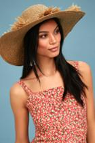 San Diego Hat Co. Montage Tan Floppy Straw Hat   Lulus