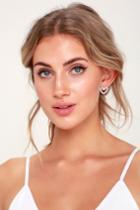 Full Of Love Silver Pearl Heart Earrings | Lulus