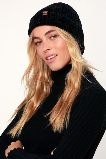 Billabong Warm Up Black Chenille Beanie | Lulus