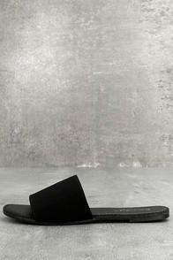 Bonnibel Addison Black Nubuck Slide Sandals