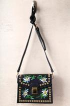 Lulus Urban Prairie Black Embroidered Purse