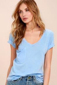 Z Supply Z Supply Pleasant Surprise Light Blue Tee