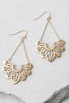 Lulus Flourish Gold Earrings