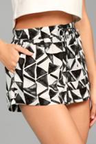 Jack By Bb Dakota Bb Dakota Franco White Print Shorts | Lulus