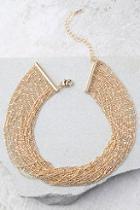 Lulus Love Bug Gold Layered Choker Necklace