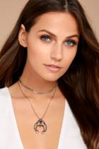 Lulus Splendor Of Love Gold Rhinestone Layered Choker Necklace