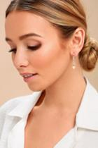 Dazzle Me Gold And Pearl Earrings | Lulus