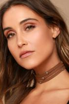 Lulus | Ceremonious Gold And Brown Layered Choker Necklace | Vegan Friendly