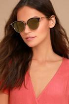 Lulus Honey Bee Gold And Yellow Mirrored Sunglasses