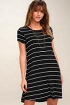 Z Supply Pencil Black And White Striped Shirt Dress | Lulus