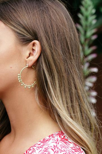 Modern Muse Gold Hoop Earrings | Lulus