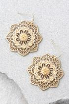 Lulus Morning Blossom Gold Earrings