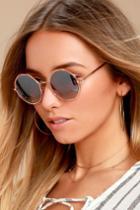 Perverse | Xanadu Gold And Black Sunglasses | Lulus