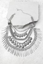 Lulus Fortune Teller Silver Layered Choker Necklace