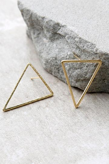 Tessellate Gold Earrings | Lulus