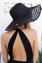 Solta Black Straw Floppy Hat   Lulus