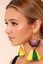 Lulus | Endless Light Yellow Beaded Tassel Earrings
