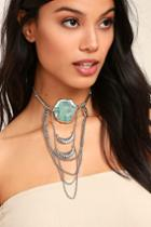 Lulus | Style Revolution Turquoise And Silver Necklace