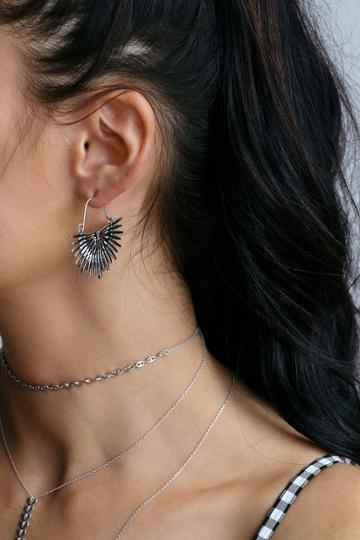 Ascendant Silver Earrings | Lulus