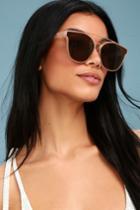 Corbin Rose Gold And Beige Sunglasses | Lulus