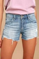 Pistola Surfside Light Wash Distressed Cutoff Denim Shorts