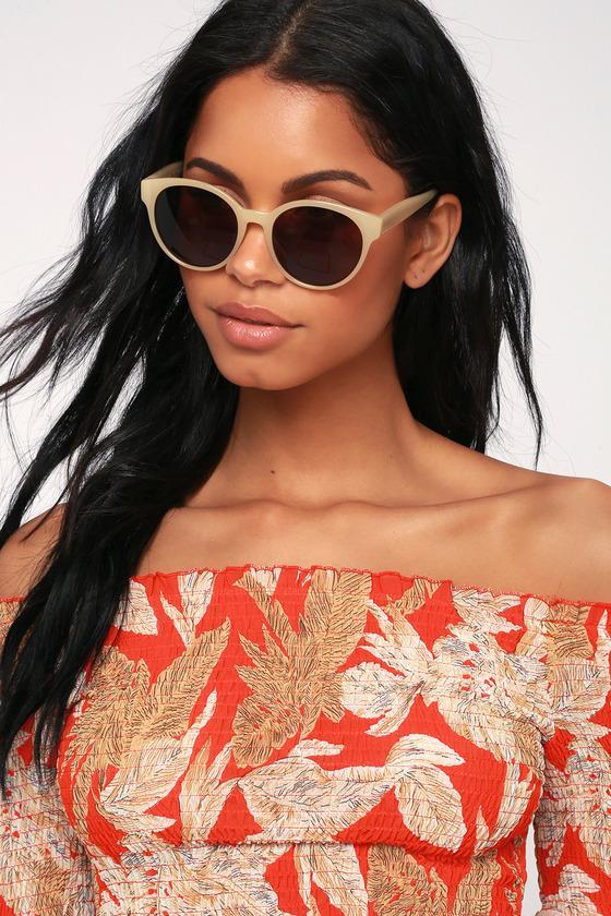 Millie Beige Sunglasses | Lulus