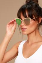 Lulus | Sun Ray Rose Gold And Pink Mirrored Sunglasses